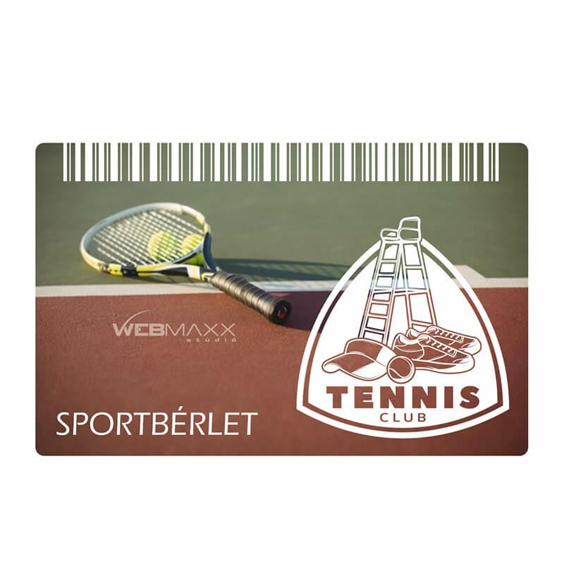 Sportbérlet kártya nyomtatás