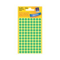 8*8 mm-es Avery Zweckform öntapadó íves etikett címke, zöld színű (4 ív/doboz), normál ragasztóval