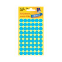 12*12 mm-es Avery Zweckform öntapadó íves etikett címke, kék színű (5 ív/doboz), normál ragasztóval