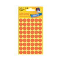 12*12 mm-es Avery Zweckform öntapadó íves etikett címke, neon piros színű (5 ív/doboz), normál ragasztóval