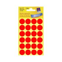 18*18 mm-es Avery Zweckform öntapadó íves etikett címke, neon piros színű (4 ív/doboz), normál ragasztóval