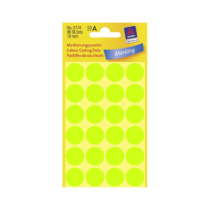 18*18 mm-es Avery Zweckform öntapadó íves etikett címke, neon zöld színű (4 ív/doboz), normál ragasztóval