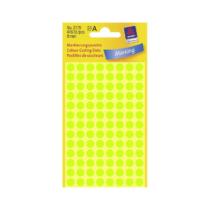 8*8 mm-es Avery Zweckform öntapadó íves etikett címke, neon zöld színű (4 ív/doboz), normál ragasztóval