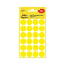 18*18 mm-es Avery Zweckform öntapadó íves etikett címke, sárga színű (4 ív/doboz), visszaszedhető ragasztóval