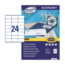 70*36 mm-es Avery Zweckform A4 íves etikett címke, fehér színű (100 ív/doboz)