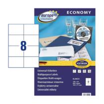 105*74 mm-es Avery Zweckform A4 íves etikett címke, fehér színű (100 ív/doboz)