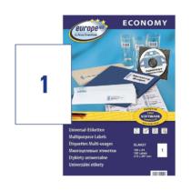 210*297 mm-es Avery Zweckform A4 íves etikett címke, fehér színű (100 ív/doboz)
