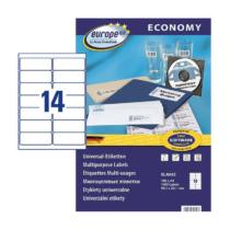 99,1*38,1 mm-es Avery Zweckform A4 íves etikett címke, fehér színű (100 ív/doboz)