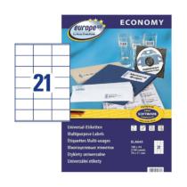 70*41 mm-es Avery Zweckform A4 íves etikett címke, fehér színű (100 ív/doboz)