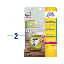 210*148 mm-es Avery Zweckform A4 íves etikett címke, fehér színű (20 ív/doboz)