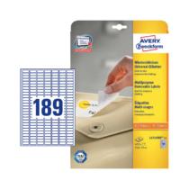 25,4*10 mm-es Avery Zweckform A4 íves etikett címke, fehér színű (25 ív/doboz)