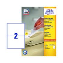 199,6*143,5 mm-es Avery Zweckform A4 íves etikett címke, fehér színű (100 ív/doboz)