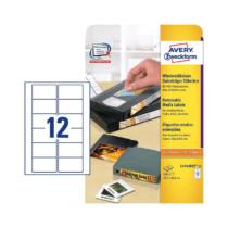 78,7*46,6 mm-es Avery Zweckform A4 íves etikett címke, fehér színű (25 ív/doboz)