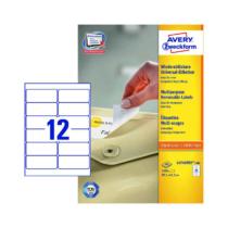 99,1*42,3 mm-es Avery Zweckform A4 íves etikett címke, fehér színű (100 ív/doboz)