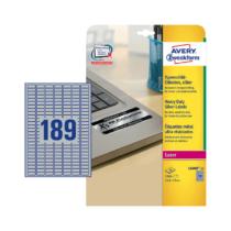 25,4*10 mm-es Avery Zweckform A4 íves etikett címke, ezüst színű (20 ív/doboz)