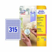 10 mm-es Avery Zweckform A4 íves etikett címke, fehér színű (25 ív/doboz)