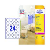 40 mm-es Avery Zweckform A4 íves etikett címke, átlátszó (víztiszta) színű (25 ív/doboz)