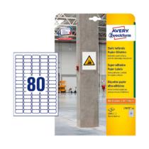 35,6*16,9 mm-es Avery Zweckform A4 íves etikett címke, fehér színű (20 ív/doboz)