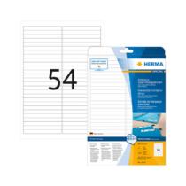 96*10 mm-es Herma A4 íves etikett címke, fehér színű (25 ív/doboz)