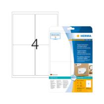 99,1*139 mm-es Herma A4 íves etikett címke, fehér színű (25 ív/doboz)