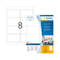 96*63,5 mm-es Herma A4 íves etikett címke, fehér színű (100 ív/doboz)