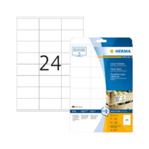 70*36 mm-es Herma A4 íves etikett címke, fehér színű (25 ív/doboz)