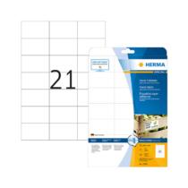 70*42,3 mm-es Herma A4 íves etikett címke, fehér színű (25 ív/doboz)
