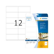 105*48 mm-es Herma A4 íves etikett címke, fehér színű (25 ív/doboz)