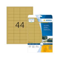 48,3*25,4 mm-es Herma A4 íves etikett címke, arany színű (25 ív/doboz)