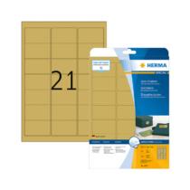 63,5*38,1 mm-es Herma A4 íves etikett címke, arany színű (25 ív/doboz)