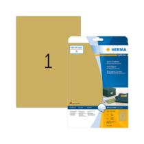 210*297 mm-es Herma A4 íves etikett címke, arany színű (25 ív/doboz)