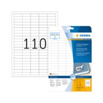 38,1*12,7 mm-es Herma A4 íves etikett címke, fehér színű (25 ív/doboz)
