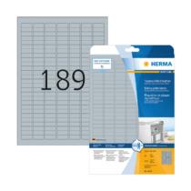 25,4*10 mm-es Herma A4 íves etikett címke, ezüst színű (25 ív/doboz)