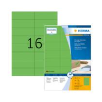 105*37 mm-es Herma A4 íves etikett címke, zöld színű (100 ív/doboz)