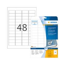 45,7*21,2 mm-es Herma A4 íves etikett címke, fehér színű (25 ív/doboz)