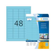 45,7*21,2 mm-es Herma A4 íves etikett címke, kék színű (20 ív/doboz)