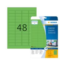 45,7*21,2 mm-es Herma A4 íves etikett címke, zöld színű (20 ív/doboz)