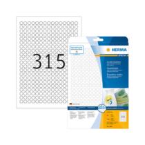 10 mm-es Herma A4 íves etikett címke, fehér színű (25 ív/doboz)