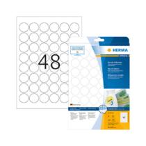 30 mm-es Herma A4 íves etikett címke, fehér színű (25 ív/doboz)
