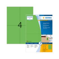 105*148 mm-es Herma A4 íves etikett címke, zöld színű (100 ív/doboz)