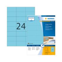 70*37 mm-es Herma A4 íves etikett címke, kék színű (100 ív/doboz)