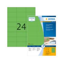 70*37 mm-es Herma A4 íves etikett címke, zöld színű (100 ív/doboz)