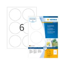 85 mm-es Herma A4 íves etikett címke, fehér színű (100 ív/doboz)