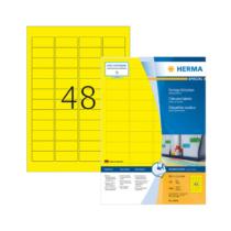 45,7*21,2 mm-es Herma A4 íves etikett címke, sárga színű (100 ív/doboz)