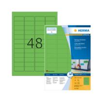 45,7*21,2 mm-es Herma A4 íves etikett címke, zöld színű (100 ív/doboz)