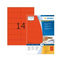 105*42,3 mm-es Herma A4 íves etikett címke, piros színű (100 ív/doboz)