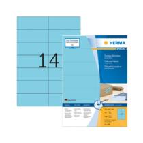 105*42,3 mm-es Herma A4 íves etikett címke, kék színű (100 ív/doboz)