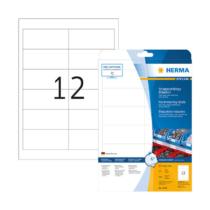 97*42,3 mm-es Herma A4 íves etikett címke, fehér színű (25 ív/doboz)