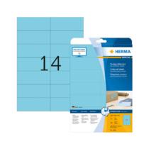 105*42,3 mm-es Herma A4 íves etikett címke, kék színű (20 ív/doboz)