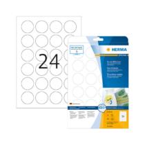 40 mm-es Herma A4 íves etikett címke, fehér színű (25 ív/doboz)